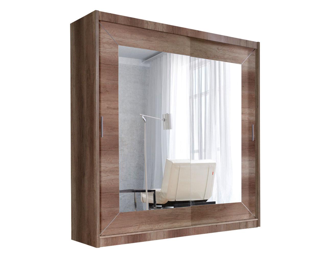 kleiderschrank alfa 180 mit spiegel schrank schiebet ren. Black Bedroom Furniture Sets. Home Design Ideas