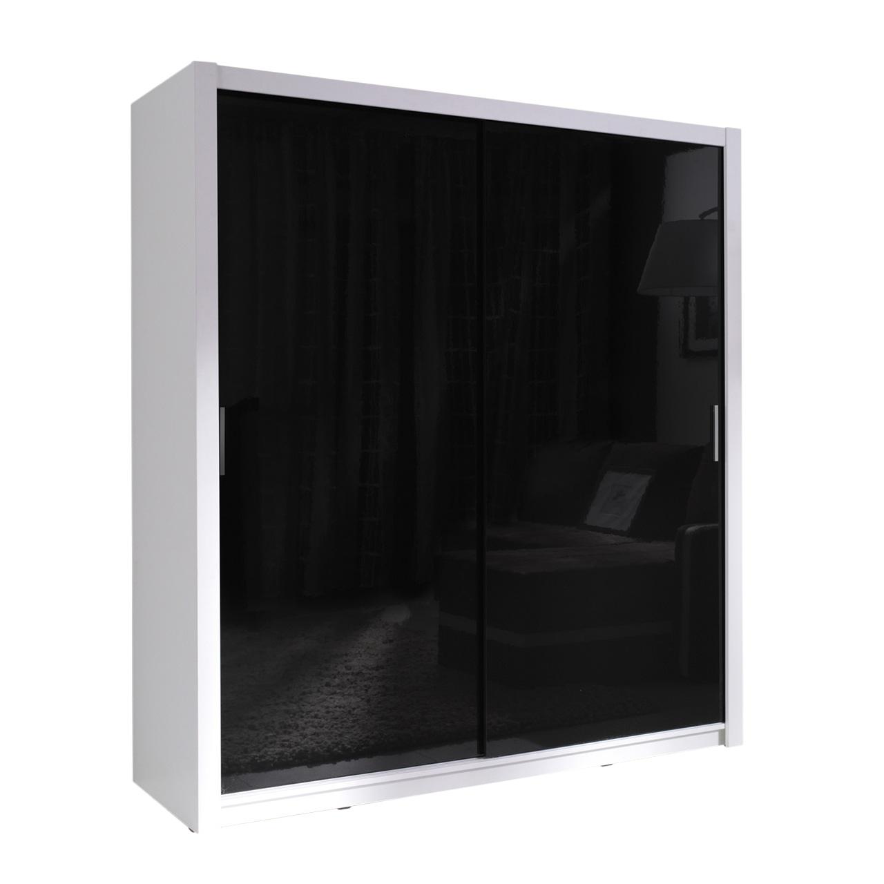 kleiderschrank dallas ii 180 hochglanz schiebet ren. Black Bedroom Furniture Sets. Home Design Ideas