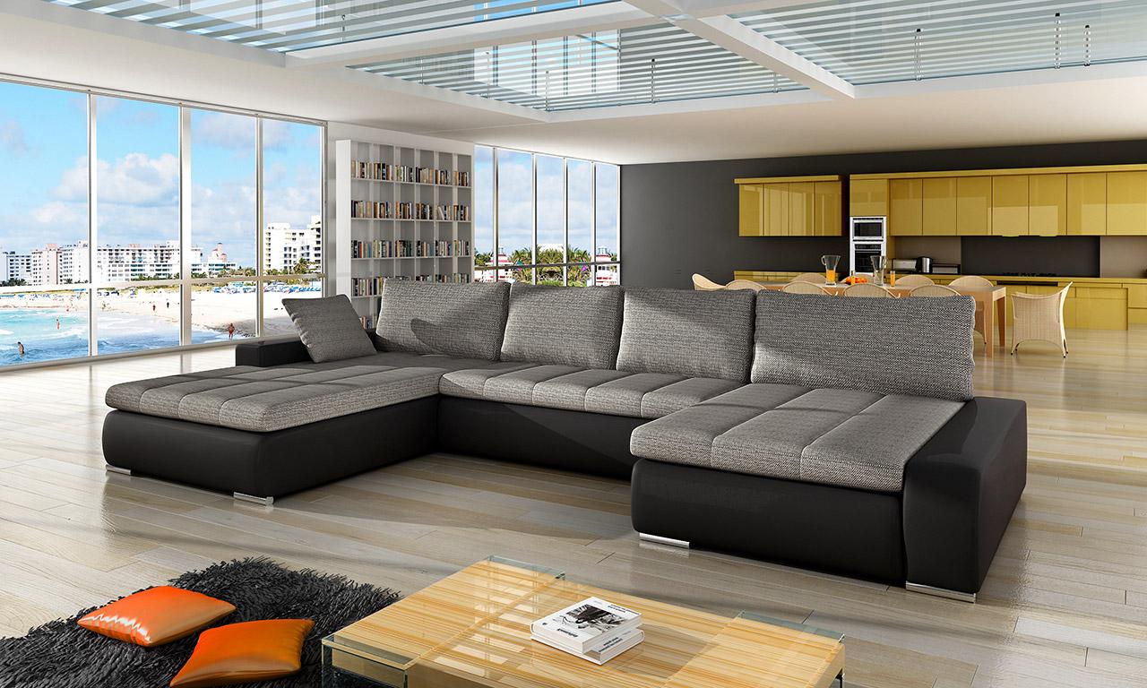 ecksofa couchgarnitur eckcouch couch caro mit. Black Bedroom Furniture Sets. Home Design Ideas