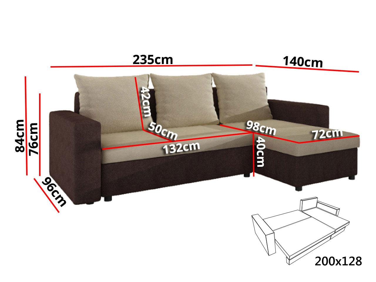 Ecksofa Top Lux! mit Schlaffunktion! Eckcouch Sofagarnitur Sofa ...
