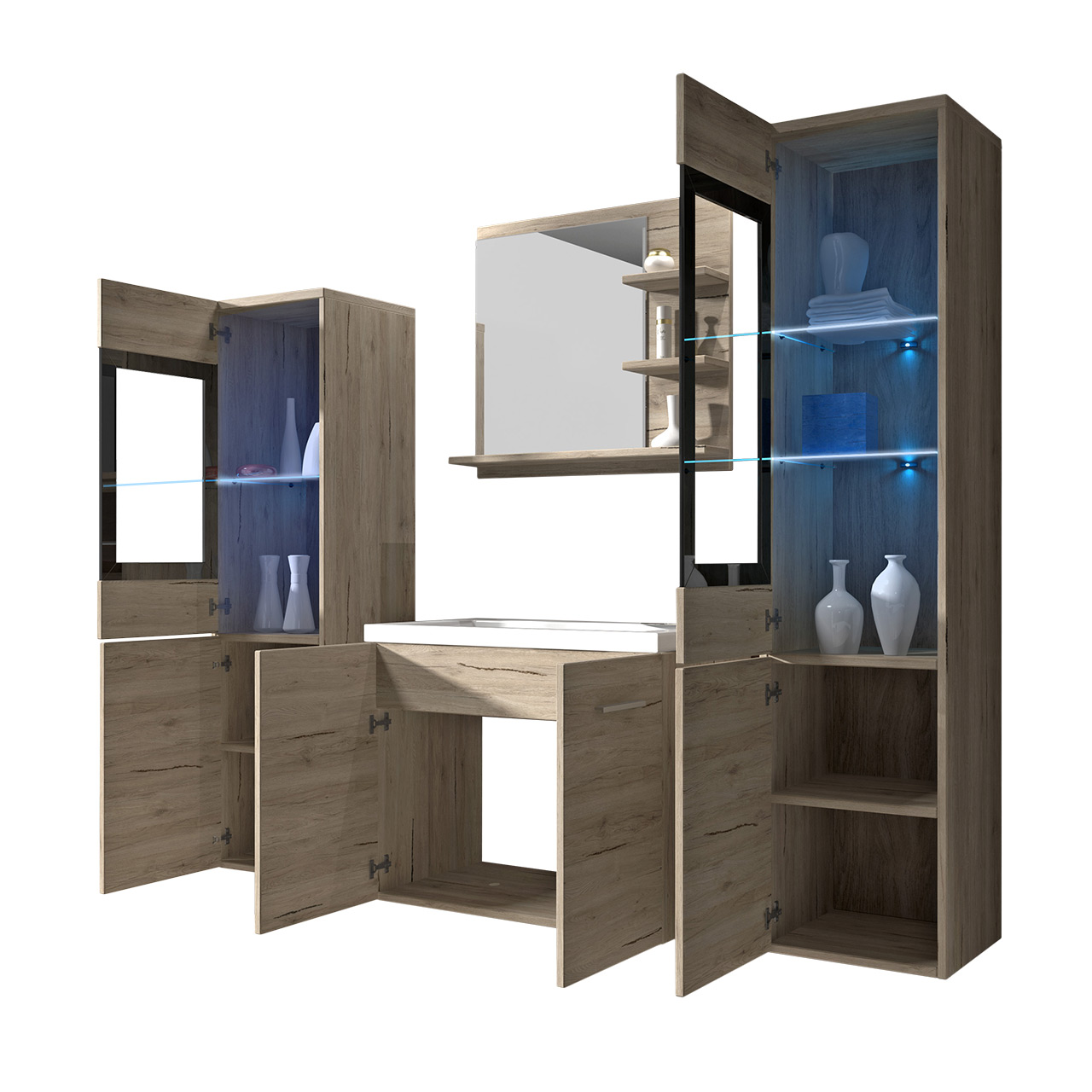 modern badm bel set badmoebel badezimmer udine baros. Black Bedroom Furniture Sets. Home Design Ideas